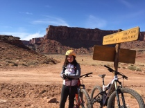 Many miles in and the signs that points to Canyonlands.