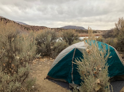 1st camp in the sage brush.