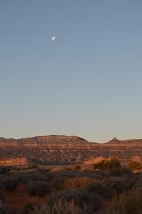 Full moon, Spring Break camp site.