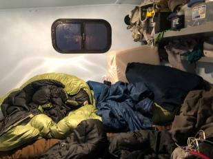 Inner workings of the camper trailer.