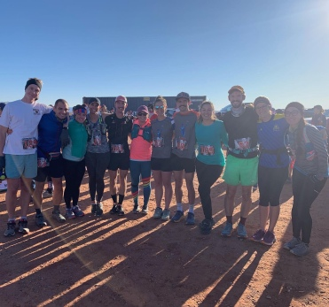 Past and present Chinle Crew showing at the Canyon X Half Marathon.